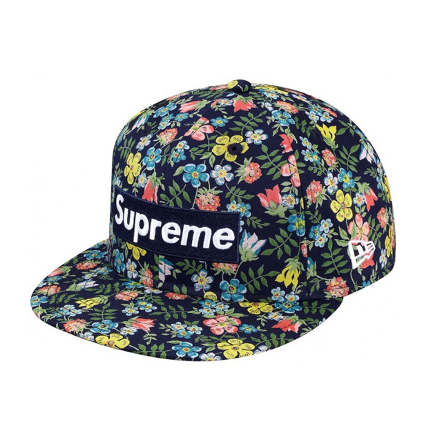 d717522a40c Supreme x Liberty x New Era Floral Box Logo 59Fifty Fitted Cap ...
