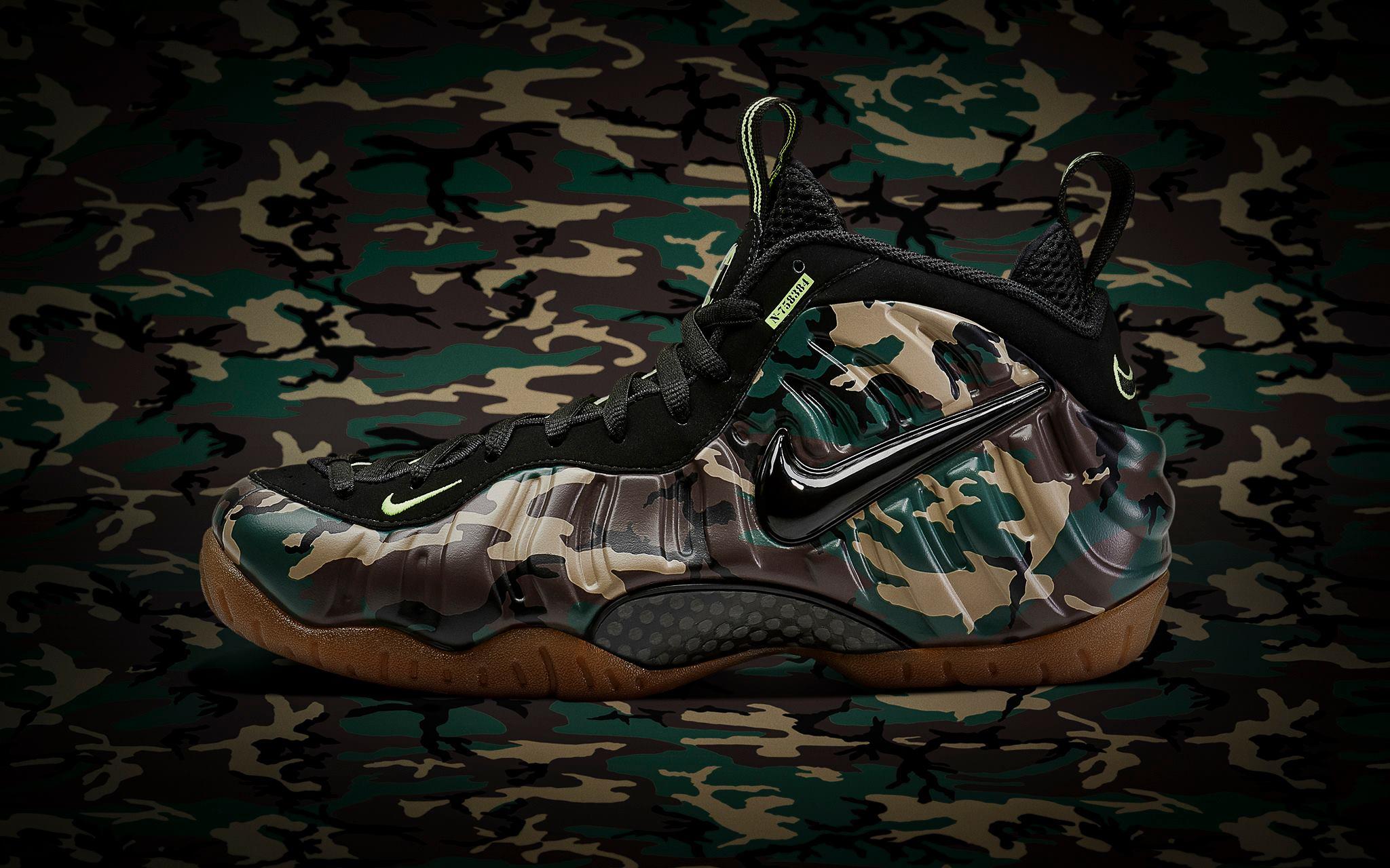 52571a0c14ba9 Kicks: Nike Air Foamposite Pro Army Camo — Acclaim Magazine