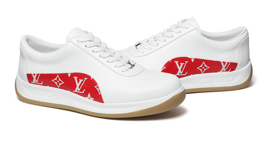 6b8fb9eae573 The long awaited Supreme x Louis Vuitton collaboration collection was  released today and features five sneaker options. There are two colourways  of the ...