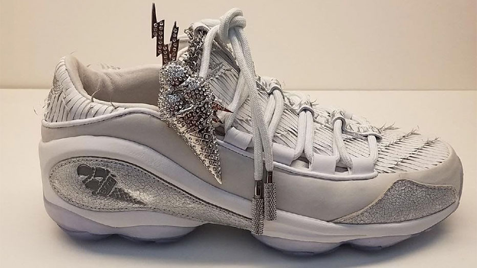 b1bd713ef4a7 It s official  Gucci Mane and Reebok have collaborated. White and silver  with an old school feel